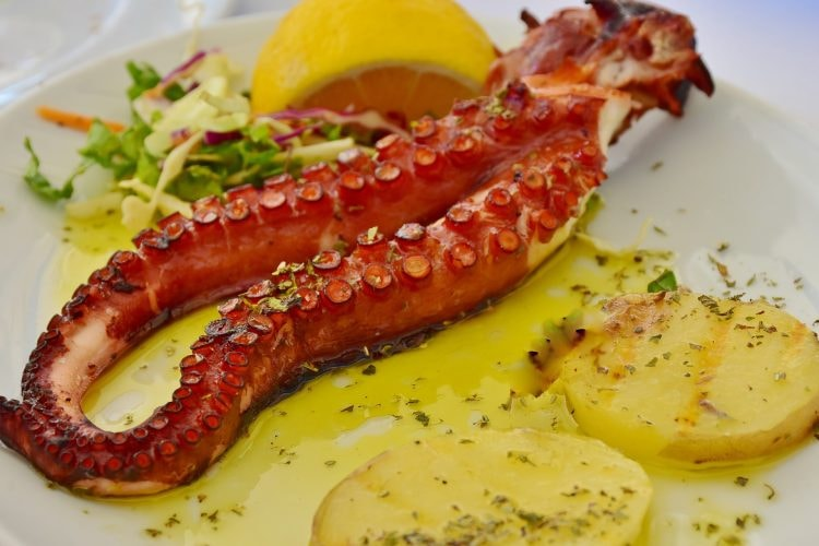 grilled octopus with potato