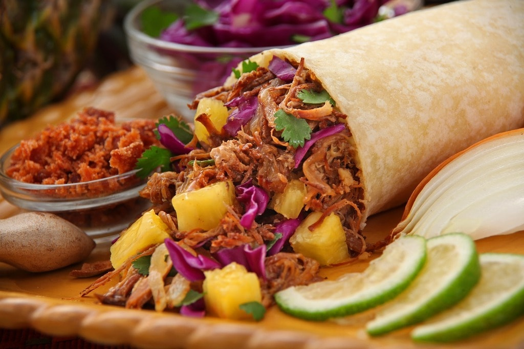grilled-pineapple-pork-burrito-2944562_1280