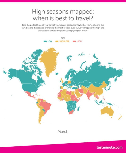 This map shows you exactly when to travel to each country holidaysheatmapfooter0009layer 3 gumiabroncs Image collections