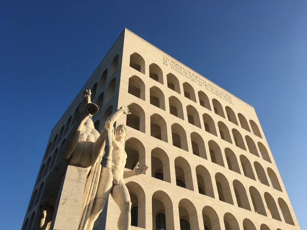 The Palazzo della Civiltà, sometimes known as the Square Colosseum | © Emma Law