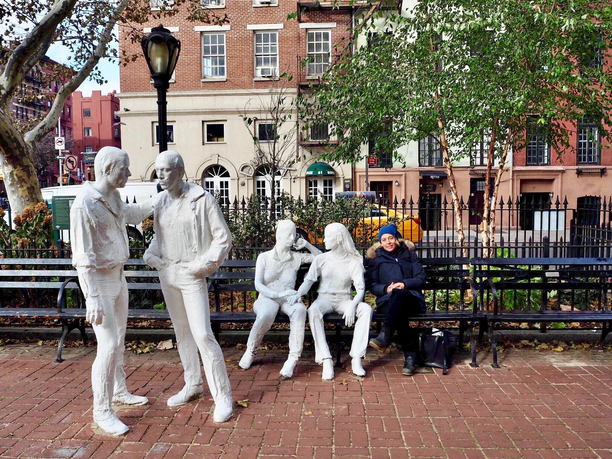 Amy Richards at the Stonewall Memorial | © Culture Trip / Nikki Vargas