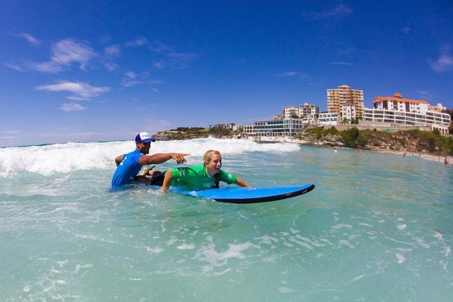 Lets Go Surfing Bondi - Push on Wave