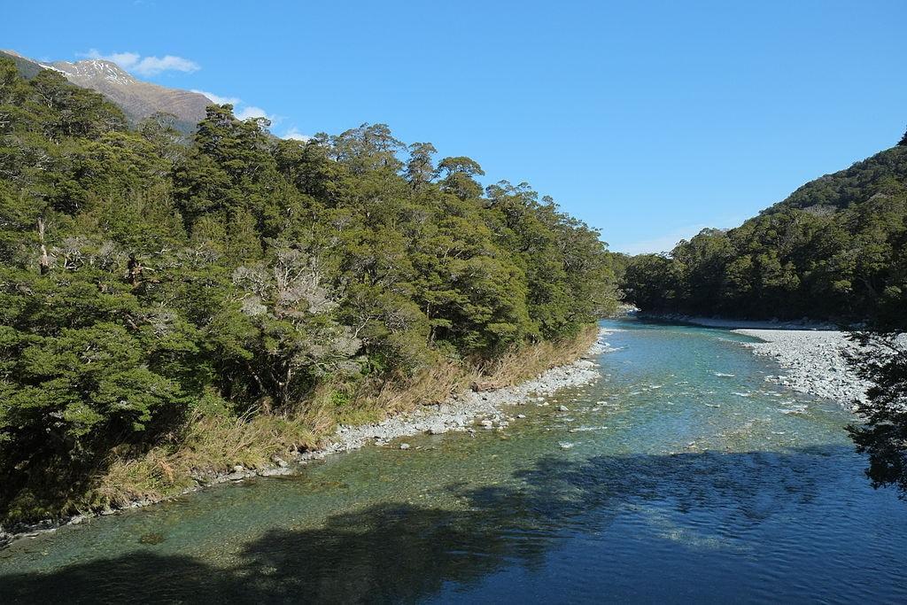 Makarora_River_downstream_of_swingbridge