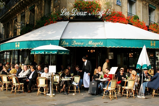 Paris France January 18 2016 The Famous Restaurant Au Pere Tranquille Located Les Halles Quarter At 16 Rue Pierre Lescot In