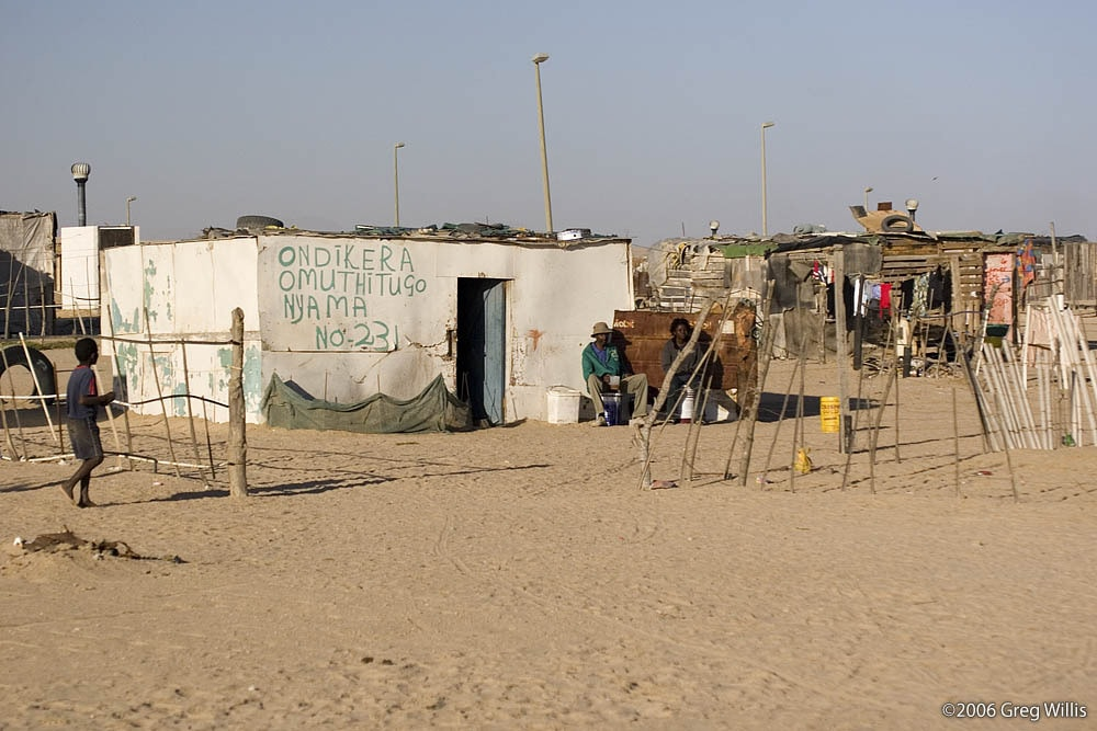 The poorer section of the township
