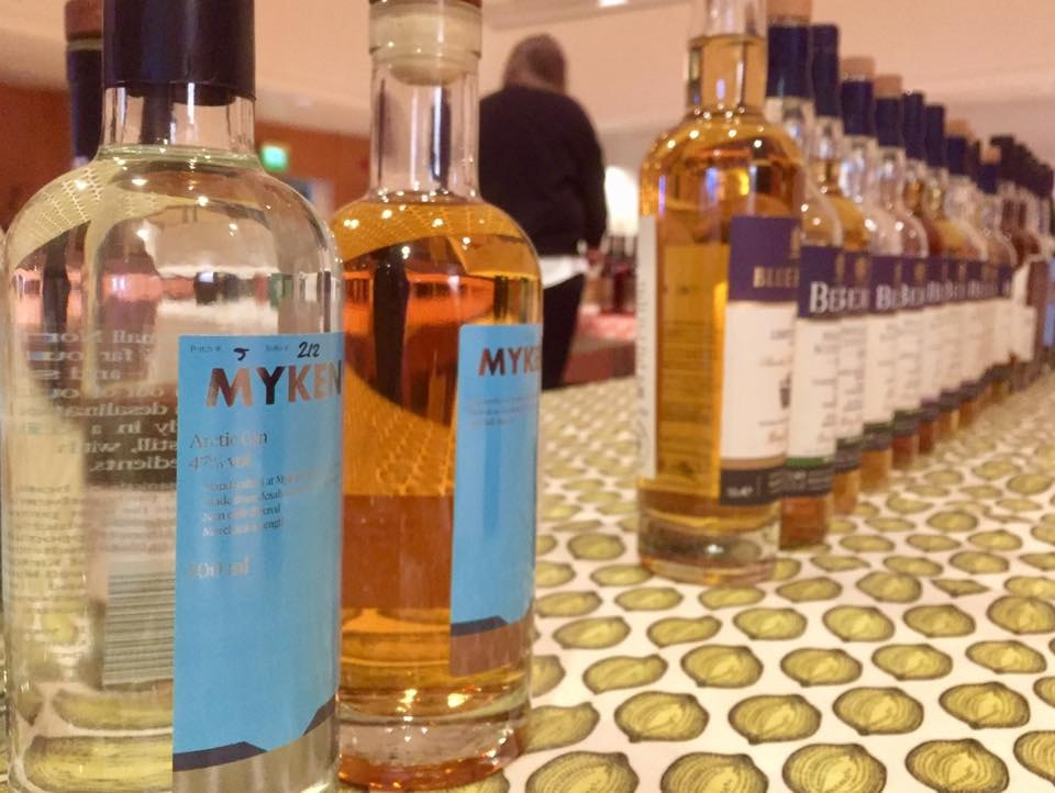 Myken whisky and gin | Courtesy of Myken Destilleri