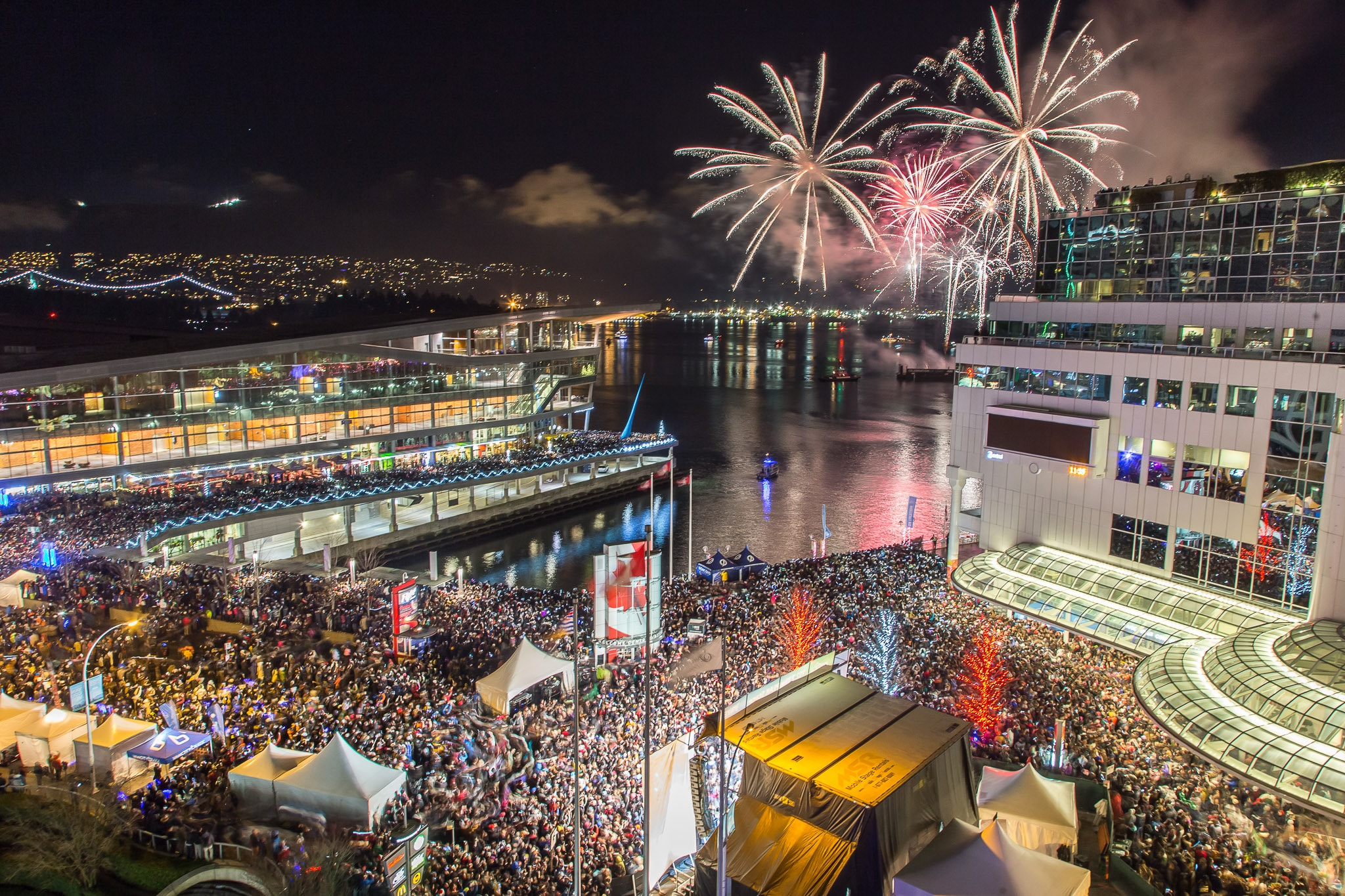 Fireworks in Coal Harbour | Courtesy of Concord's New Year's Eve