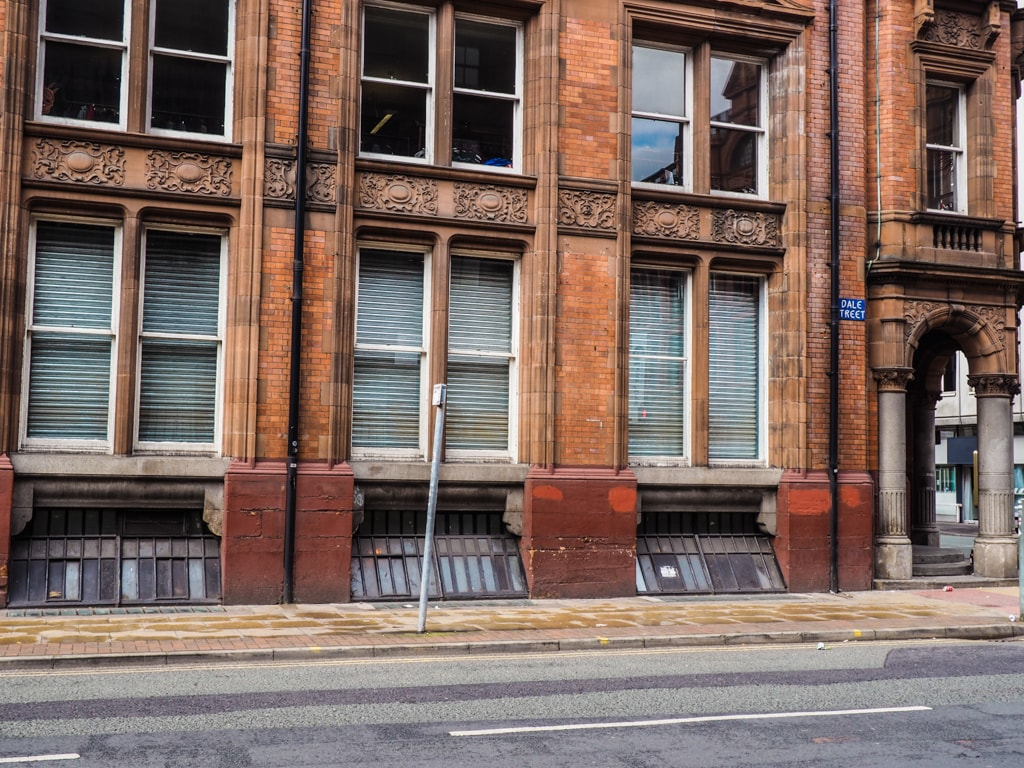 Is this red brick building in Manchester's Dale Street, or 1940s New York City? | © Rebecca Sharp