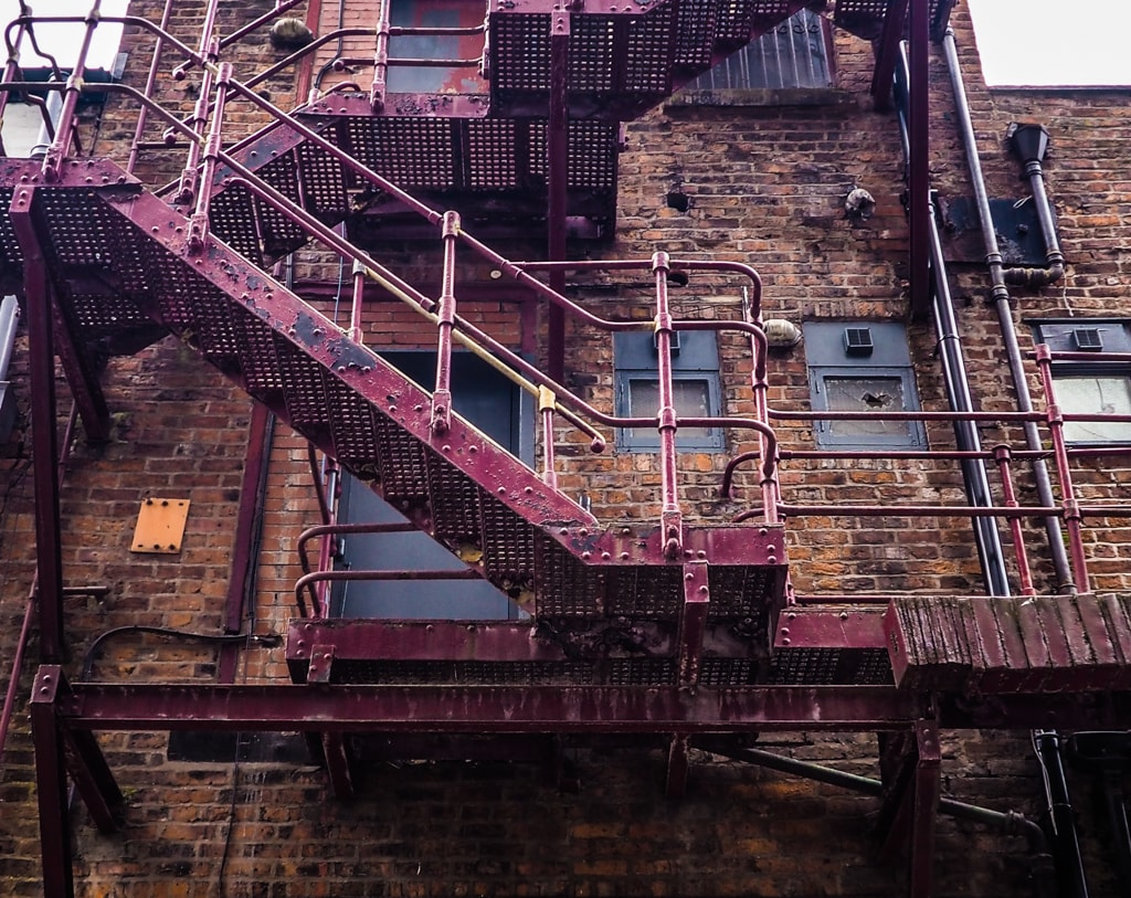 These fire escapes are more reminiscent of Manhattan than Manchester | © Rebecca Sharp