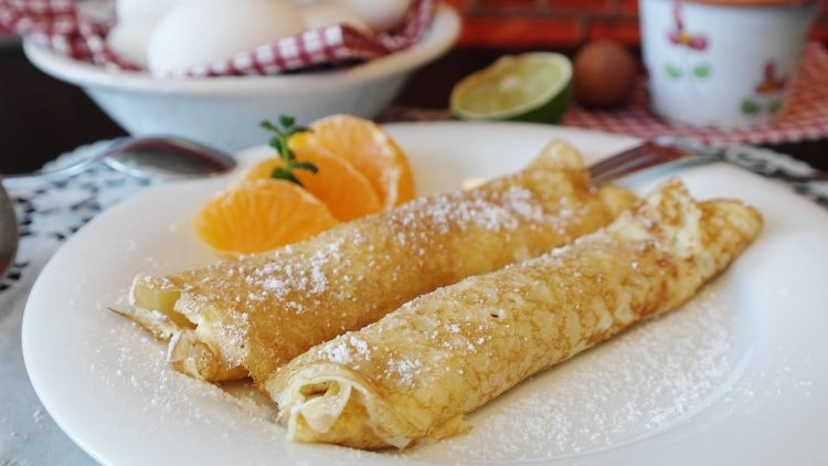Two crepes on a plate