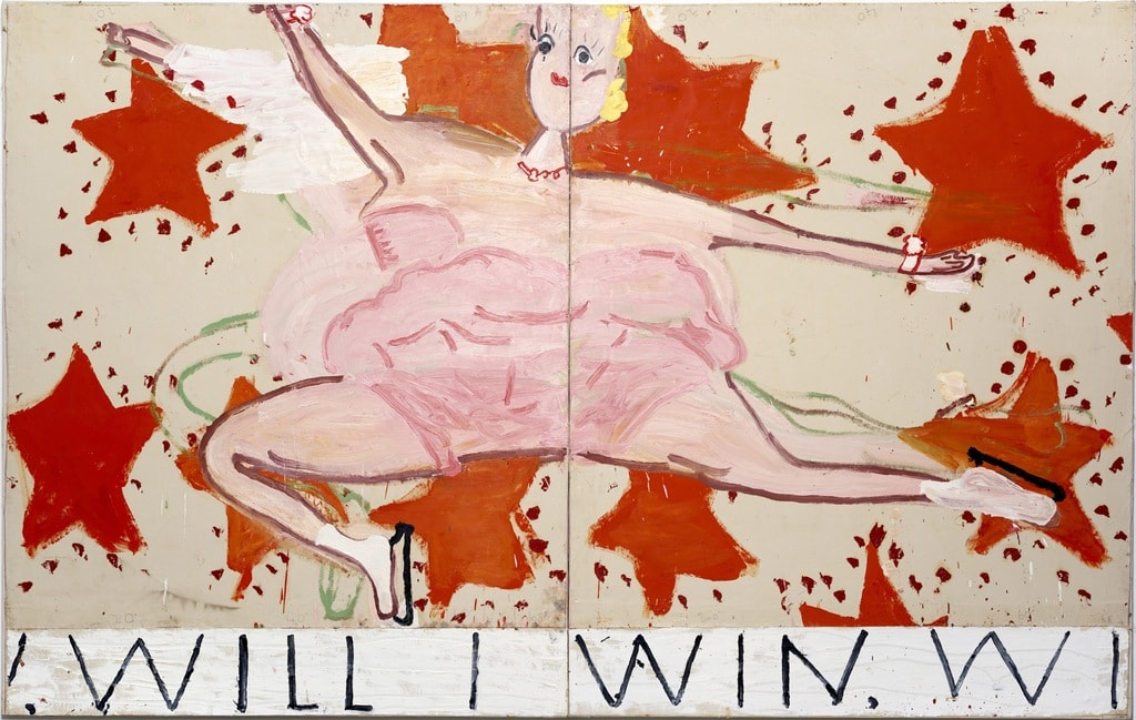 pink_skater_will_i_win_will_i_win_2015_oil_on_canvas_208_x_329_cm_rose_wylie copy