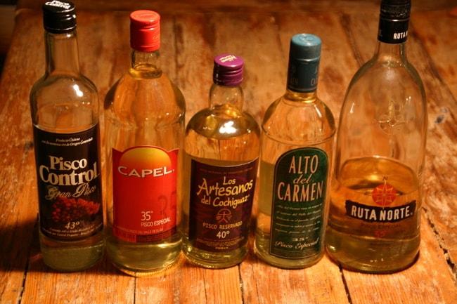 Pisco-bottles-Chile