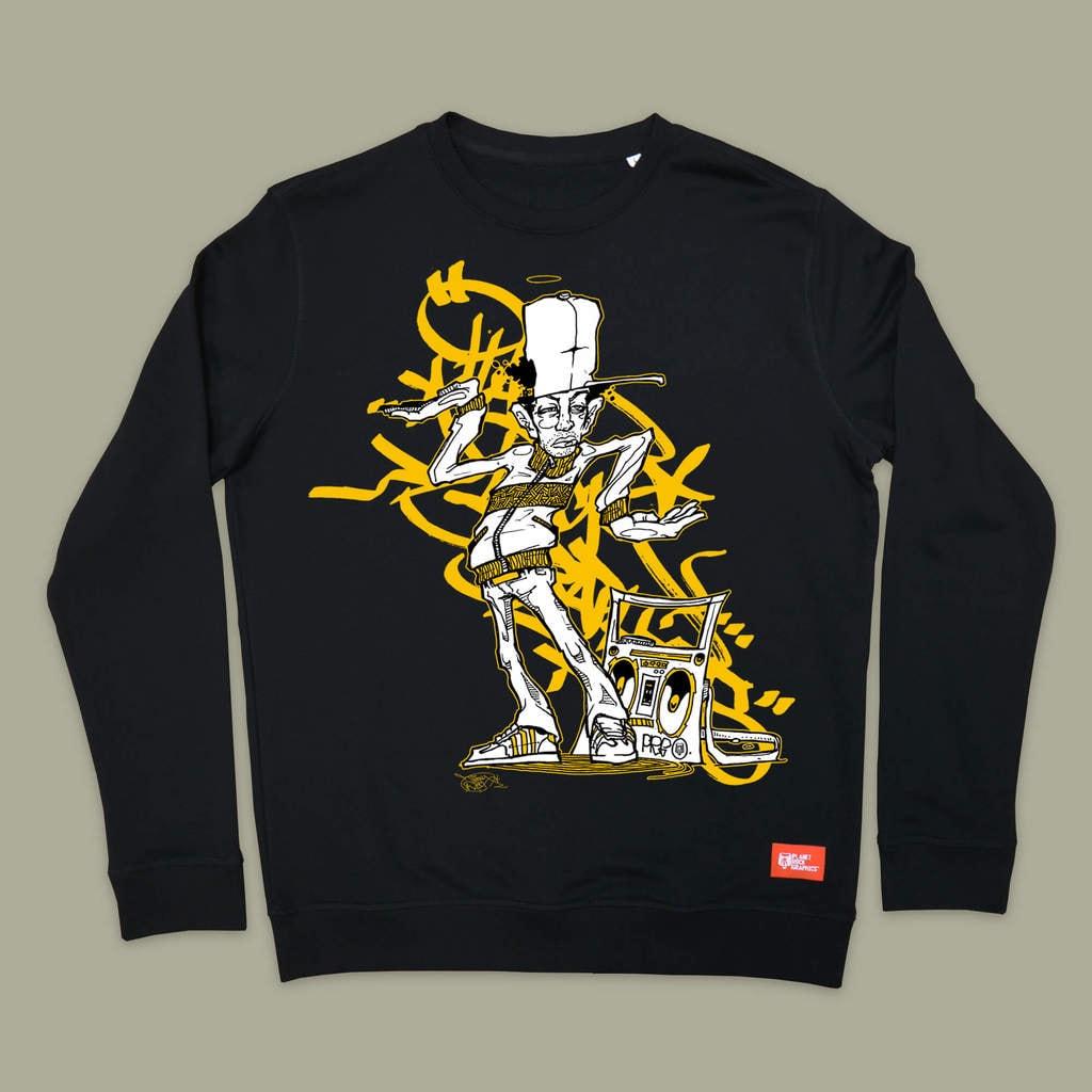 PLANET-ROCK-GRAPHICS-x-TIZER-BREAK-Sweatshirt-Black