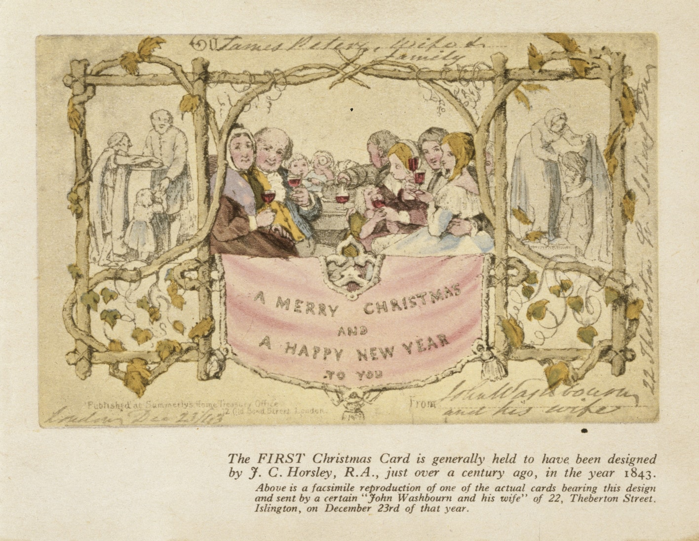 The Tale Of The First Ever Christmas Card And Its Fascinating Design