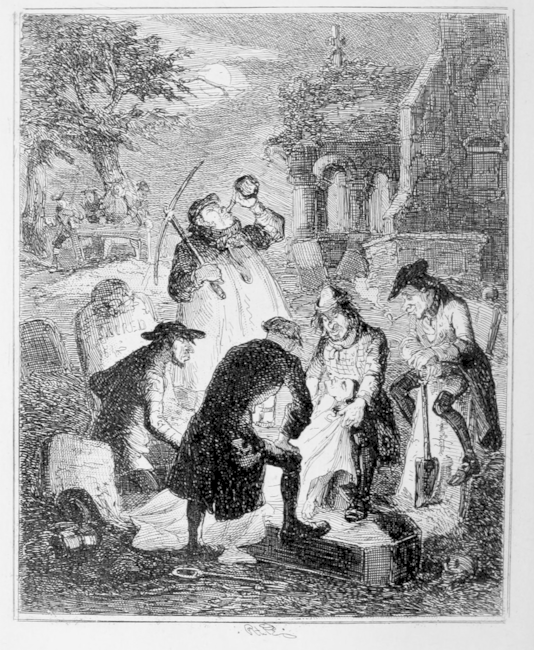 Resurrectionists at Work   Public Domain via WikiCommons