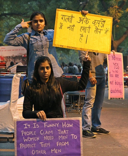 India Crime Against Women Protest - Dec 2014