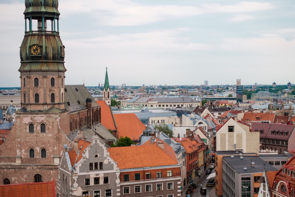 Rooftops in Riga