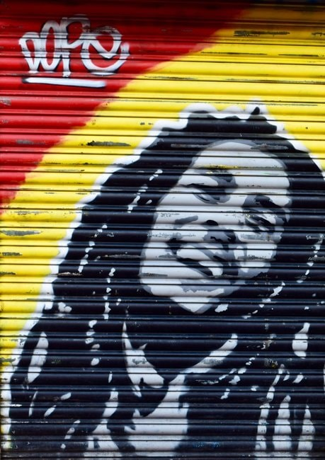 Bob Marley's image © Angie Quinn