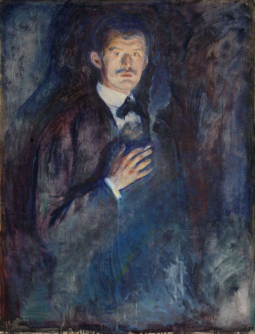 Edvard Munch's 'Self-Portrait with Cigarette', 1895 | © 2017 Artists Rights society (ARS), New York / Nasjonalmuseet, Oslo / Børre Høstland