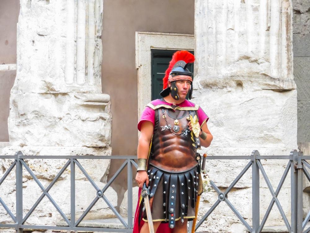 Street actor representing the Roman soldier   ©Arndale/Shutterstock