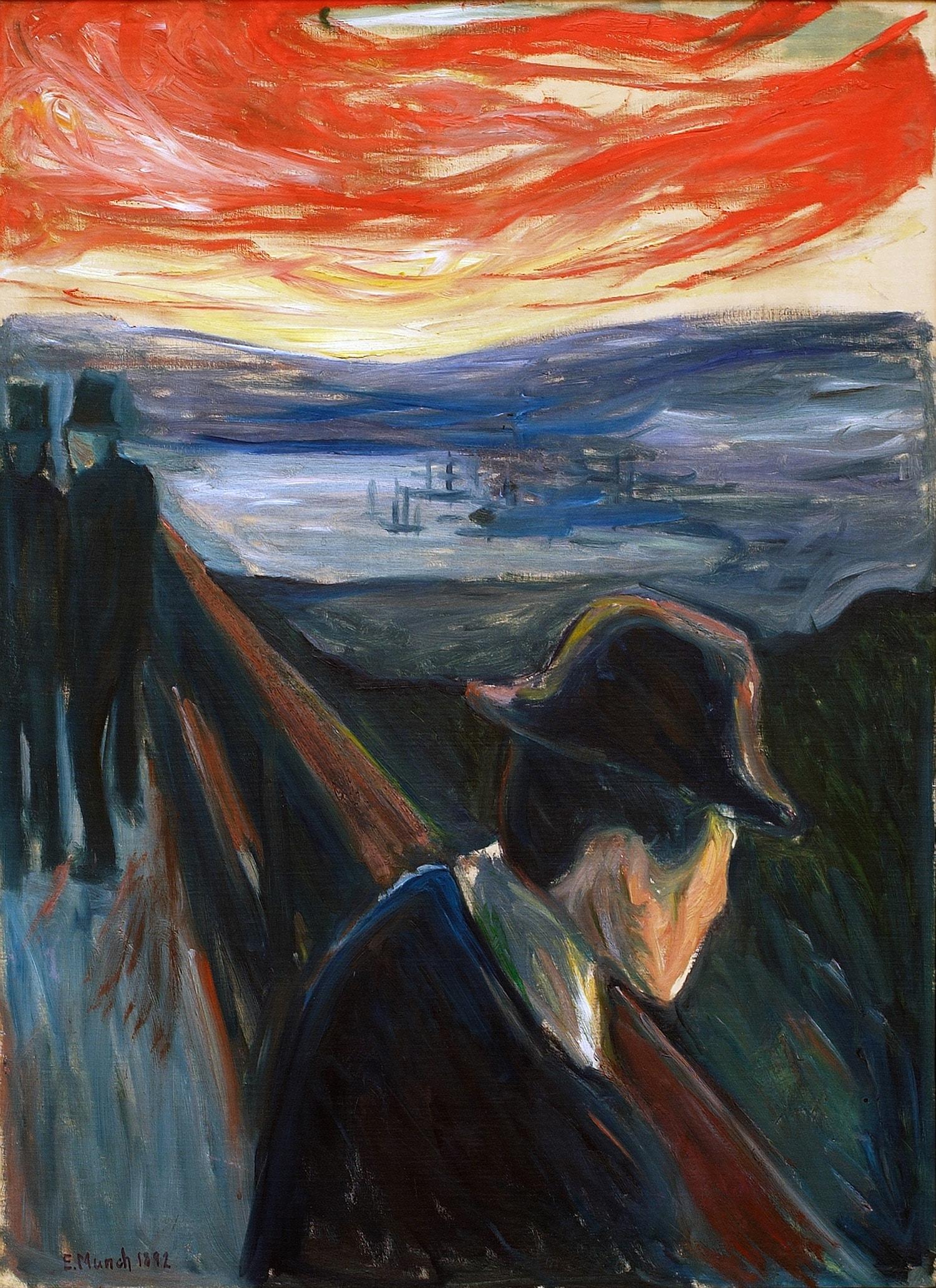 Edvard Munch's 'Sick Mood at Sunset, Despair', 1892 | © 2017 Artists Rights Society (ARS), New York / Thielska Galleriet, Sweden / Tord Lund