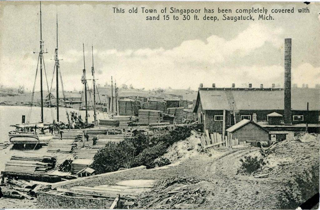 Buried village of Singapore in Saugatuck, Michigan