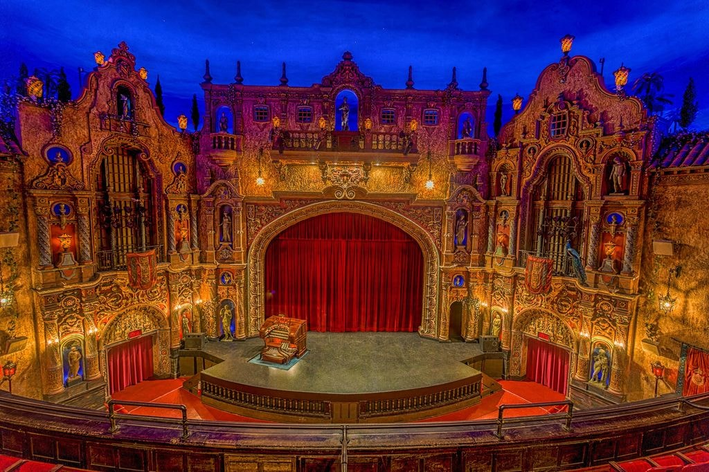 Tampa theatre's stage, a view from balcony | Courtesy of Tampa Theatre
