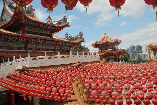 The majestic Thean Hou Temple