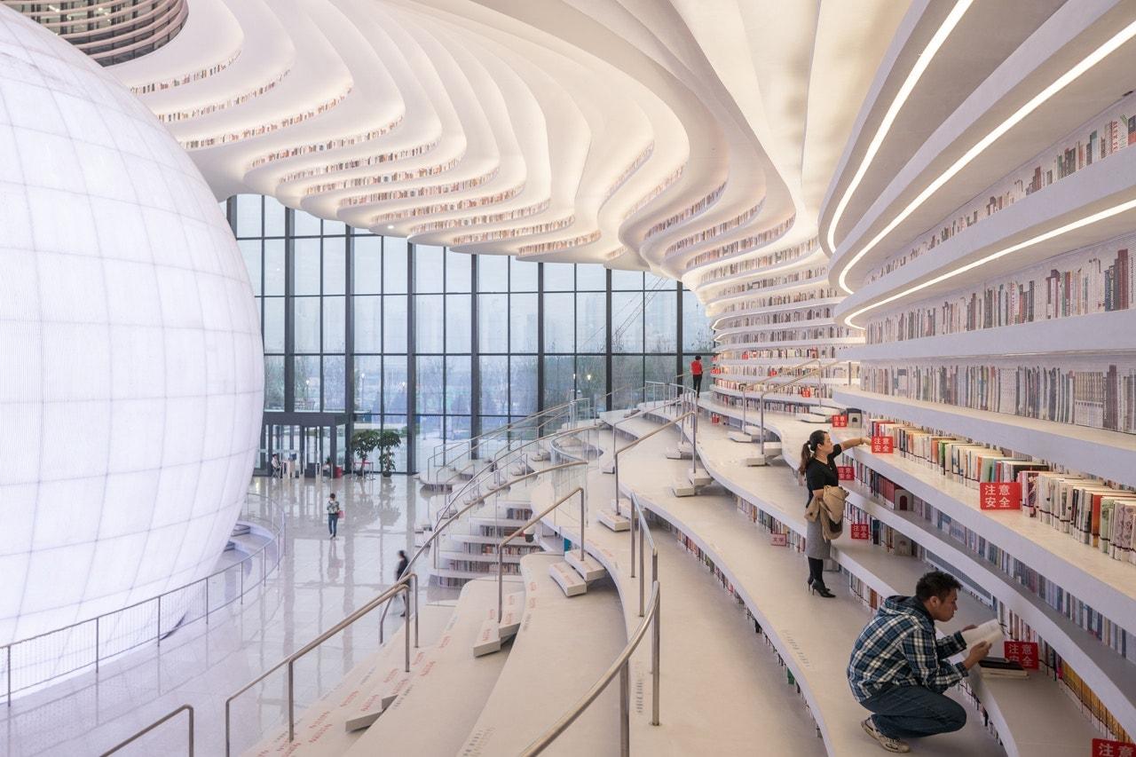 Tianjin Binhai Library China 1