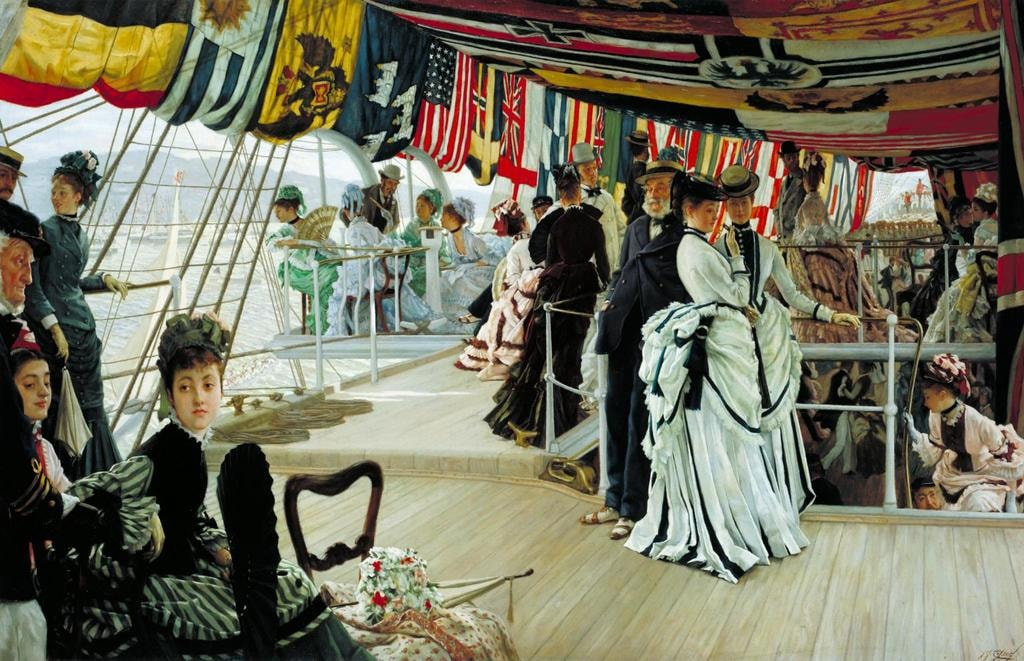 The Ball on Shipboard c.1874 by James Tissot 1836-1902