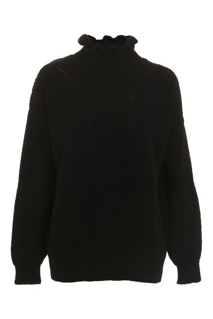 Topshop frill neck knit