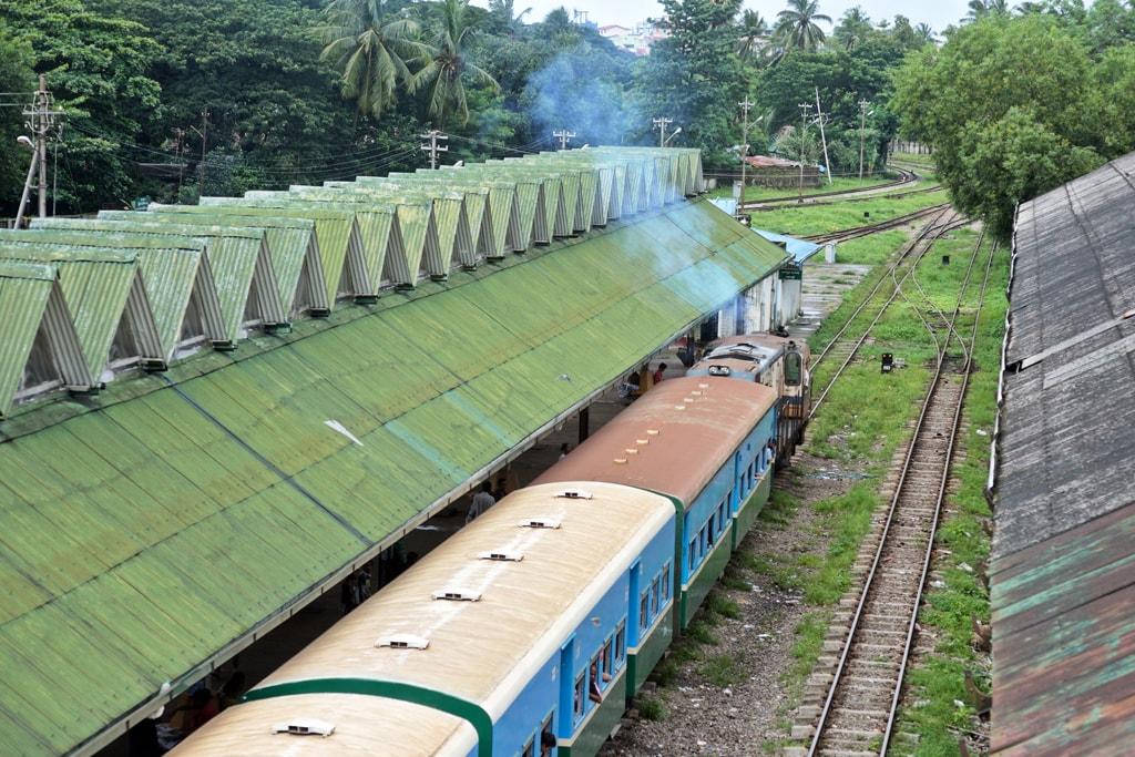 Train-Departing-Yangon-Central-Railway