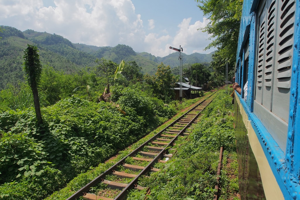 Traveling-by-Train-from-Thazi-to-Shwenyaung-Myanmar