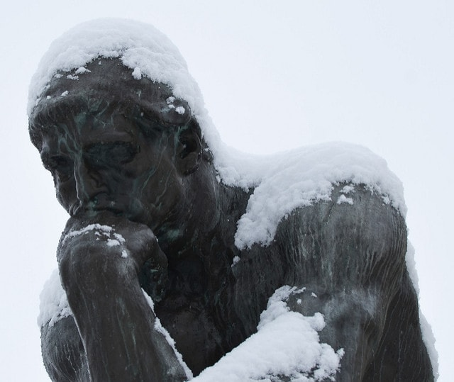 "Auguste Rodin, 'The Thinker' | <a href=""https://www.flickr.com/photos/edrost88/12272415323/in/photolist-jGtkvD-dhfE5X-oSd7nk-5EFMNC-dLsZZ6-5EBuCc-91oXzg-X1tnam-EttB9t-bk5WU7-nPrD3M-9TEptD-bUjaAv-oKeSaX-aXF7qg-dt5jFf-92pxTP-rNfQ4s-WWJMXG-oRJxRm-aaxqq4-dVETsc-gowqXX-92R5Aa-5MofsU-Y1fri2-EBGjSv-p5JSsL-i4C5k1-EttYzz-cUi17G-fw6xjS-dsDNs5-9n2GqW-q2wf5k-rcSQAc-dGeupA-pZqPPQ-aqpiYP-gGTu9E-azZJvv-eeyUTz-nah5ZL-fwnqoE-EBFX9v-kcuuzV-o6Bxy6-fSZ9hk-5EBuwn-RkpaMz"" target=""_blank"" rel=""noopener"">© Erik Drost / Flickr</a>"