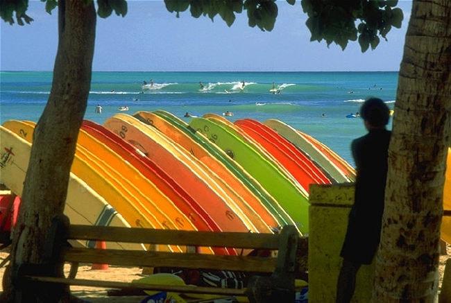 1999_-_Surf_à_Waikiki_Beach_Honolulu_Hawaï