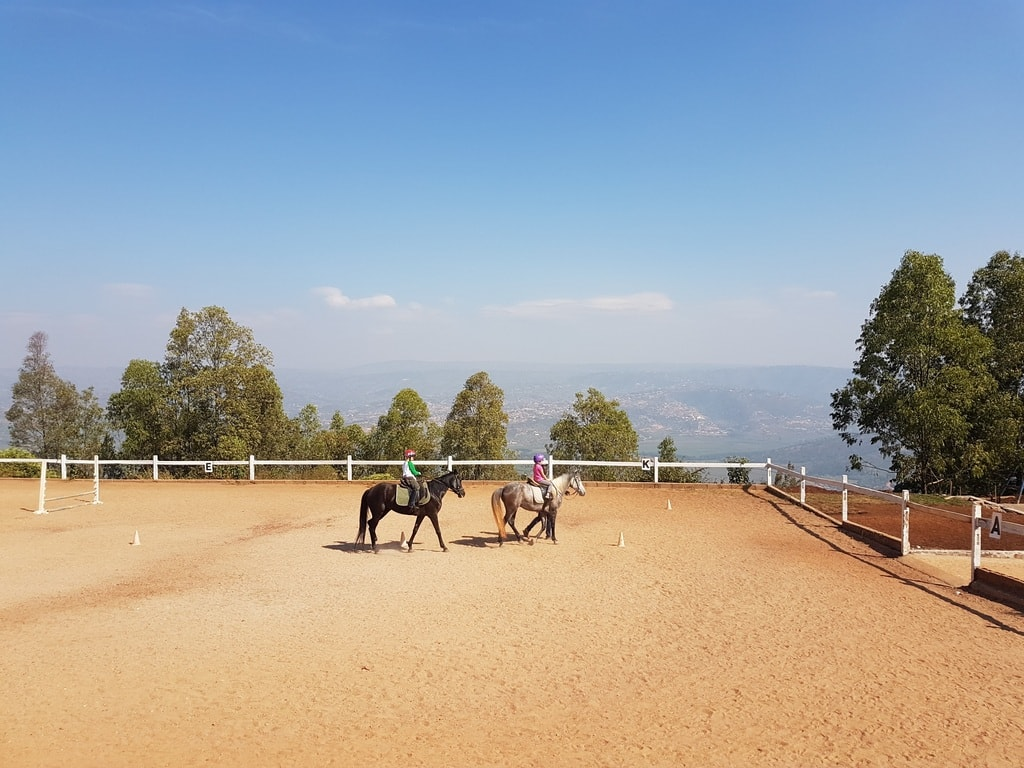"Horse riding on top of Mount Kigali | <a href=""https://www.facebook.com/askannetterwanda/"" target=""_blank"" rel=""noopener"">Courtesy of Living in Rwanda – Ask Annette</a>"