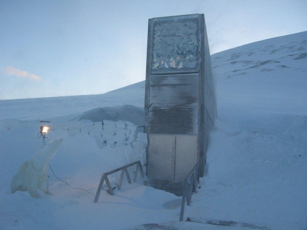 The Svalbard Global Seed Vault is even guarded by a frozen polar bear | © Dag Terje Filip Endresen / Flickr