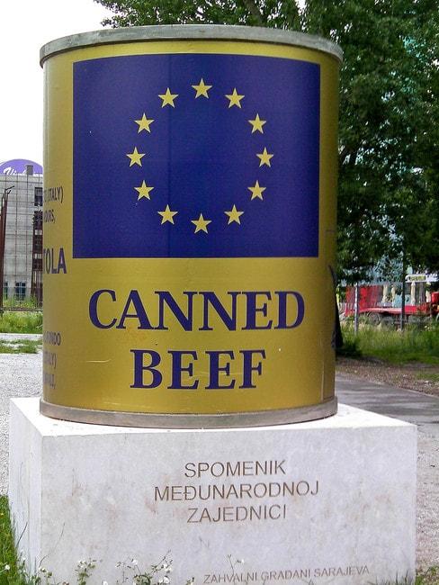 Canned Beef ICAR Sarajevo | © Tony Bowden/Flickr