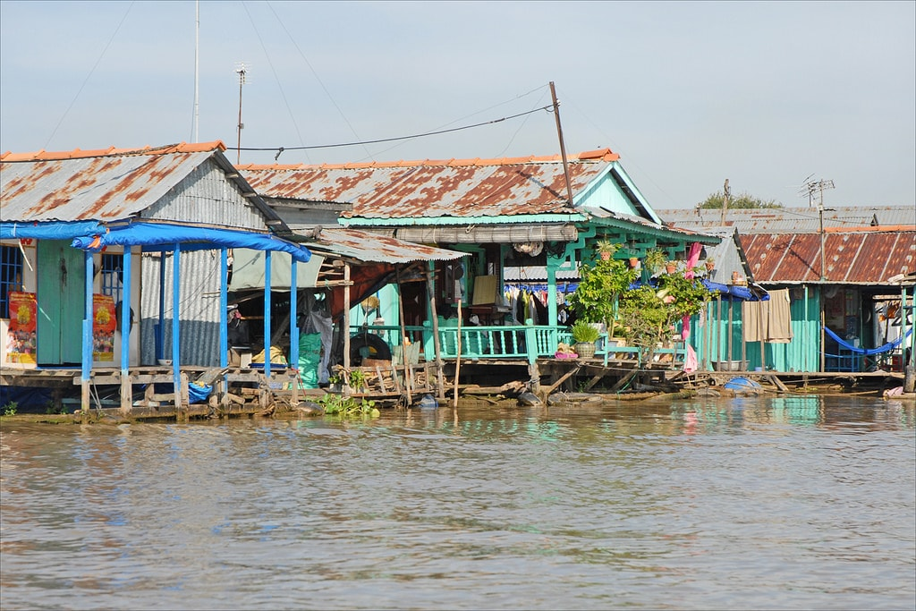 Homes floating in Chau Doc | © Jean-Pierre Dalbéra/Flickr