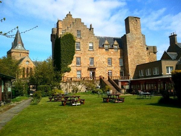 Garden at Dornoch Castle Hotel in the Scottish Highlands