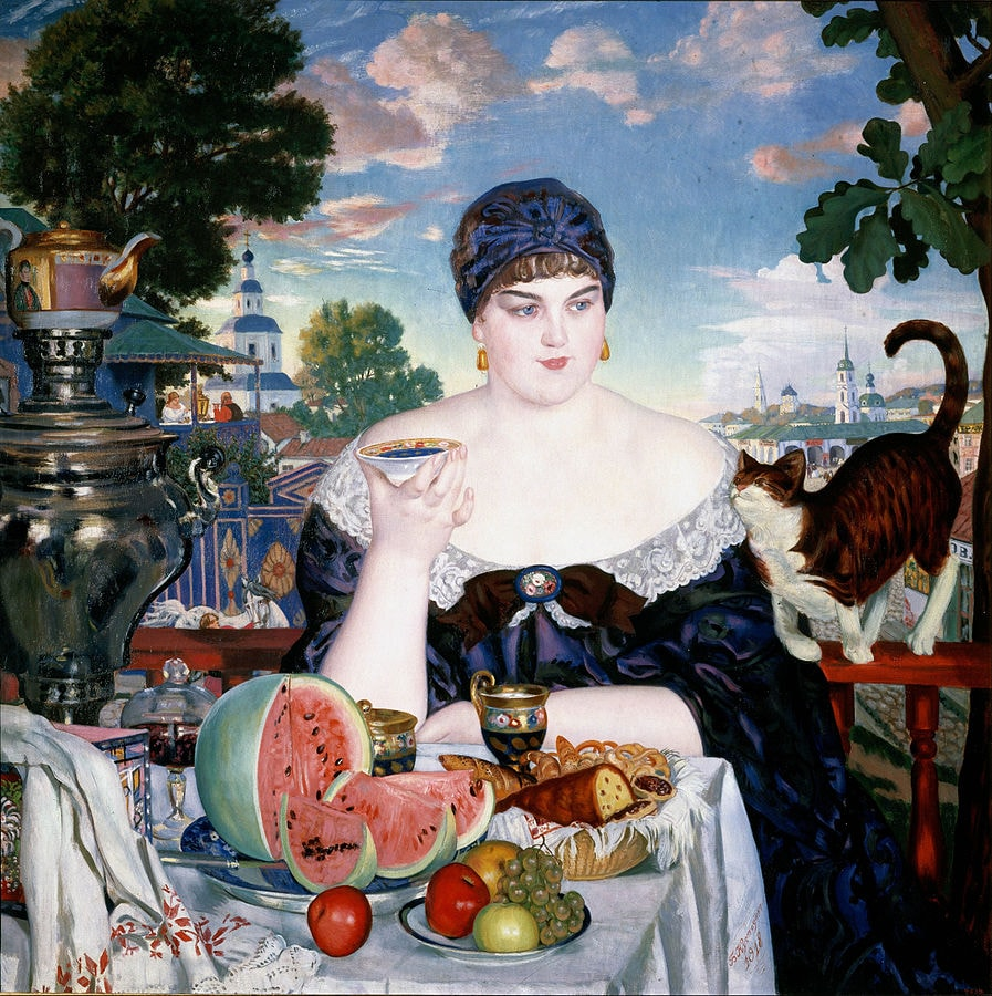 897px-Boris_Kustodiev_-_Merchant's_Wife_at_Tea_-_Google_Art_Project
