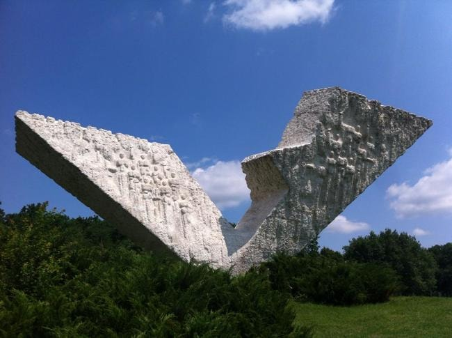 The Interrupted Flight monument in Kragujevac   © John Bills/Facebook