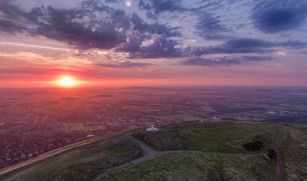 Aerial shot of the Malvern Hills, Worcestershire | © Chris Homer Flickr