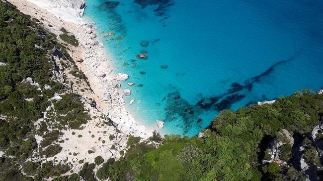 Coast Sardinia Sea Mediterranean Turquoise Beach