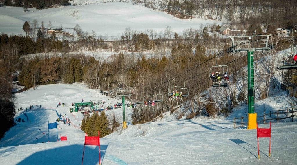 Chair lifts to the slopes | Courtesy of Hockey Valley Resort