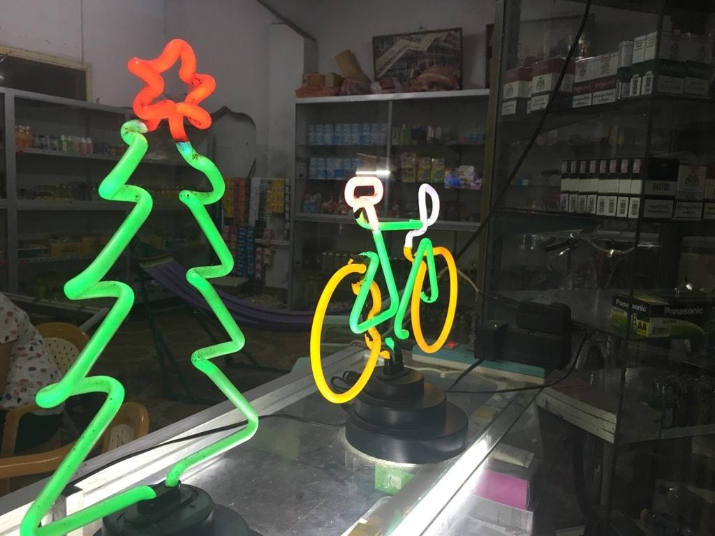 Christmas Neon in Savannakhet | © Regina Beach/Culture Trip