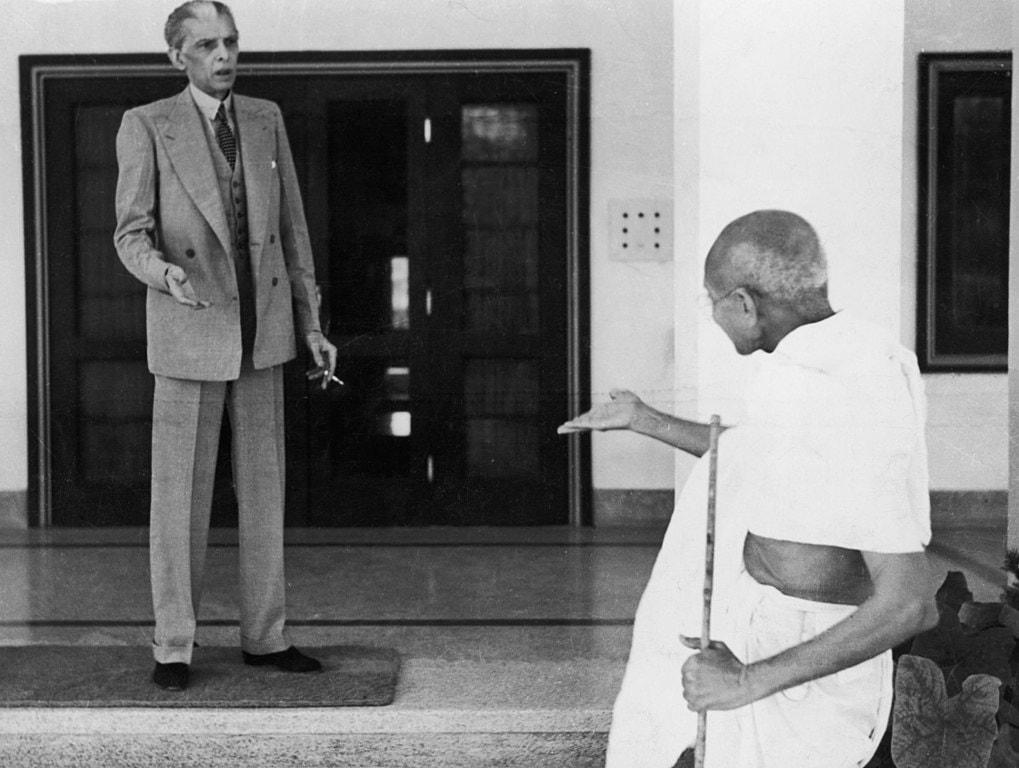 Jinnah and Gandhi WikiCommons
