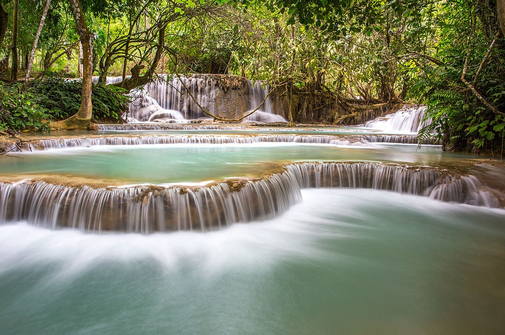Kuang Si Falls | ©Anne Dirkse/ WikiCommons