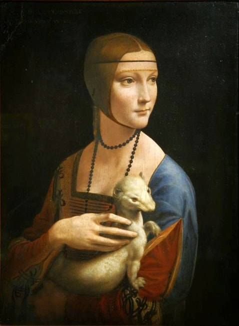 "Leonardo da Vinci, 'Lady with an Ermine' | <a href=""https://commons.wikimedia.org/wiki/File:Leonardo_da_Vinci_-_Lady_with_an_Ermine.jpg"" target=""_blank"" rel=""noopener"">© Frank Zöllner / WikiCommons</a>"