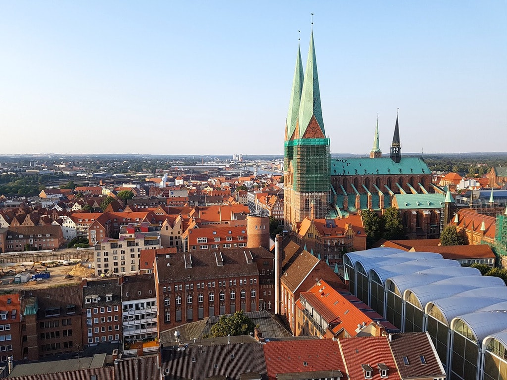 View from the St Petri tower, Lübeck